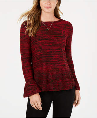 Style&Co. Style & Co Petite Marled Ruffled Sweater