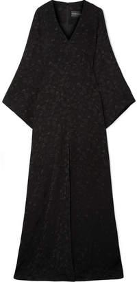 Brandon Maxwell - Satin-jacquard Gown - Black
