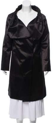 Rue Du Mail Draped Satin Coat