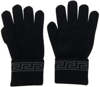 Versace Grecca knit gloves