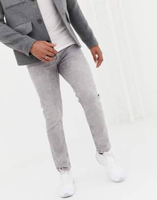 ONLY & SONS slim jeans in acid wash gray