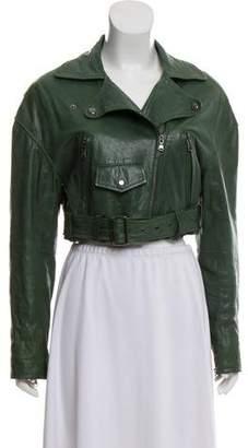 Tibi Leather Biker Jacket