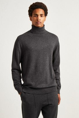French Connenction Stretch Cotton Roll Neck Jumper