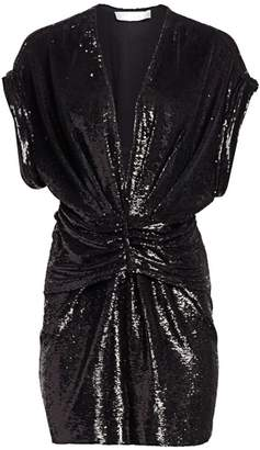 IRO Lilou Ruched Sequin Dress