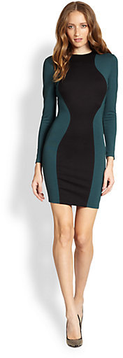 Torn By Ronny Kobo Shiran Colorblock Stretch Jersey Dress