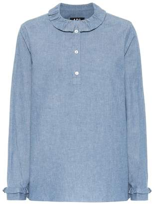 A.P.C. Agatha denim long sleeved top