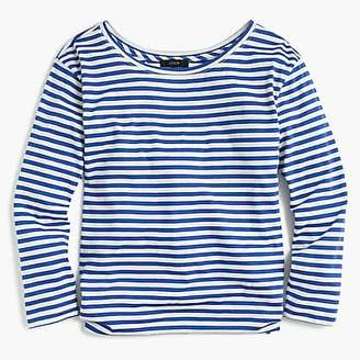 J.Crew Twist-back long-sleeve T-shirt in stripes