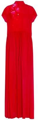 DELPOZO Chiffon Embellished Gown