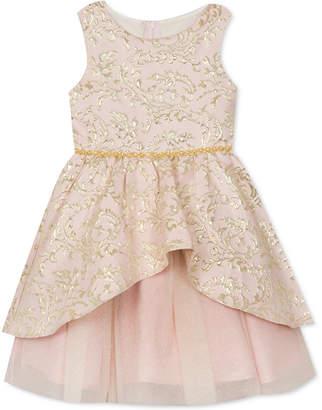 Rare Editions Little Girls Peplum Brocade Dress