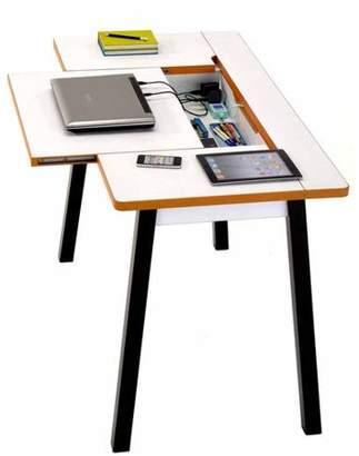 Techni Mobili Flexx Multi-Functional Desk with Storage, Multiple Colors