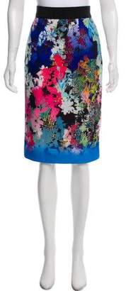 Milly Floral Knee-Length Skirt