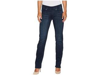 Liverpool Jillian Straight Pull-On Jeans in Silky Soft Stretch Denim in Estrella Medium Dark