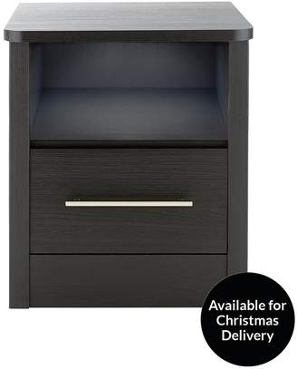 Consort Furniture Limited Liberty Ready Assembled 1 Drawer Bedside Chest With Light