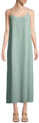 Eileen Fisher Long Solid Crepe Slip Dress