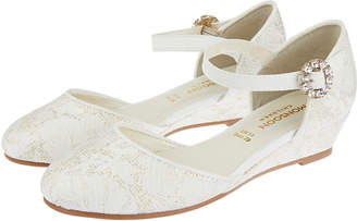 Monsoon Willow Jacquard Two Part Wedge Shoes