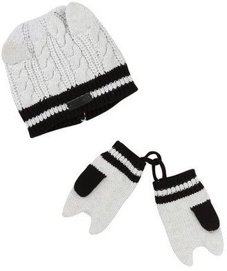 Karl Lagerfeld Cat Baby Hat & Mitten Set $88 thestylecure.com