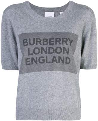 Burberry logo square knit top