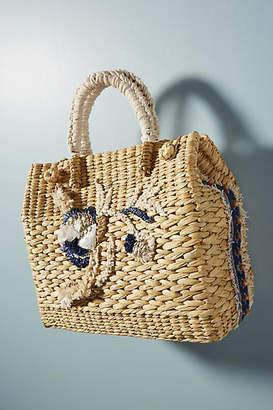 Vineet Bahl Floral Straw Tote Bag