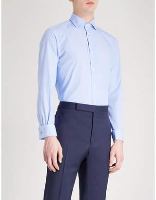 at Selfridges Ralph Lauren Purple Label Bond striped slim-fit cotton shirt