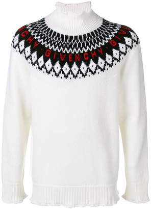 Givenchy roll neck logo knit sweater