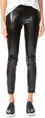 Blank Denim Patent Pull On Leggings $98 thestylecure.com