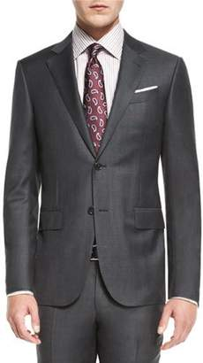 Ermenegildo Zegna Plaid Trofeo Wool Two-Piece Suit, Gray $2,995 thestylecure.com