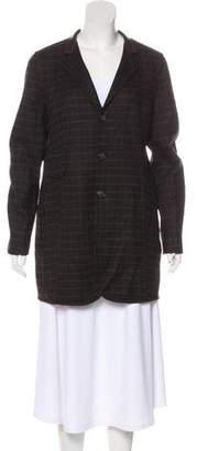 Akris Leather-Trimmed Wool Jacket