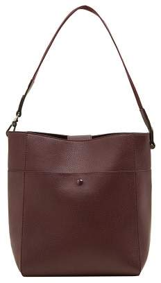 Violeta BY MANGO Leather tote bag
