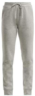 Paco Rabanne Logo Embroidered Cotton Track Pants - Womens - Grey