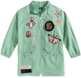 GUESS Cotton Patch Jacket, Big Girls