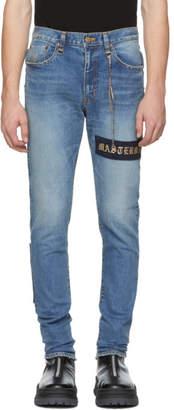 mastermind WORLD Indigo Selvedge Skinny Jeans