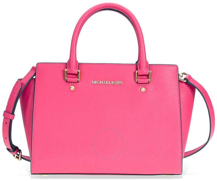Michael Kors Selma Medium Leather Satchel - Ultra Pink - ONE COLOR - STYLE