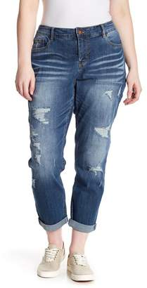 Marni SUPPLIES BY UNION BAY Destructed Vintage Peg Jeans (Plus Size)