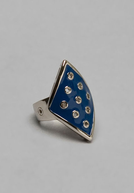 House of Harlow Silver Diamond Shaped Ring