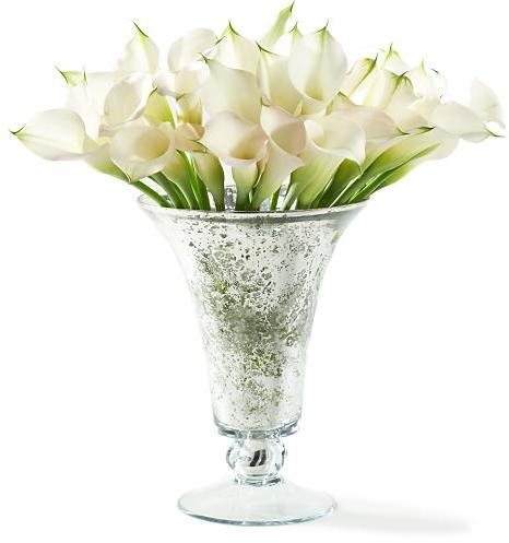 Mercury Glass Vase, Silver, Short