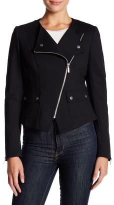 Barbour Asymmetrical Zip Jacket $429 thestylecure.com