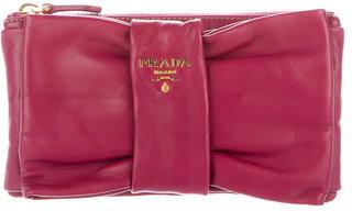 pradaPrada Nappa Bow Clutch