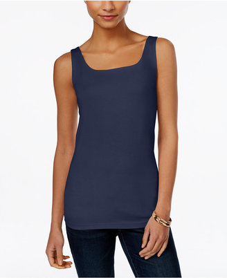 Style & Co Shelf-Bra Tank Top, Only at Macy's $24.50 thestylecure.com