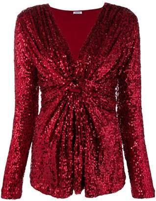 P.A.R.O.S.H. v-neck sequin blouse
