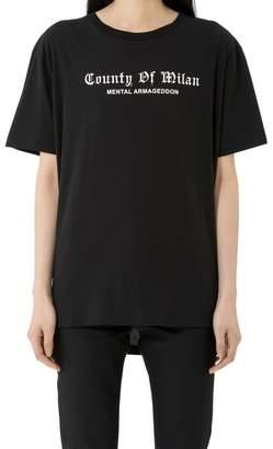 Marcelo Burlon County of Milan Shalg Poncho T-shirt