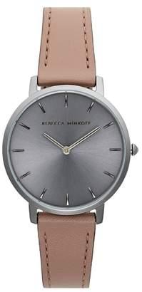 Rebecca Minkoff Major Leather Strap Watch, 35mm