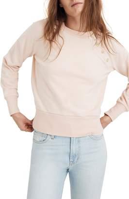 Madewell Button Detail Sweatshirt