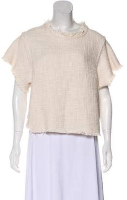 IRO Short Sleeve Tweed Top