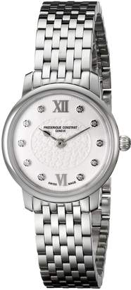 Frederique Constant Women's FC200WHDS6B Slim Line Analog Display Swiss Quartz Watch