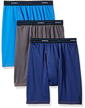 Hanes Red Label Men's 3-Pack X-Temp Performance Cool Long Leg Boxer Brief