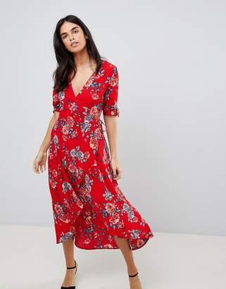 AX Paris Floral Wrap Midi Dress