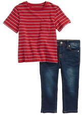 AG Adriano Goldschmied kids Stripe Shirt & Jeans Set