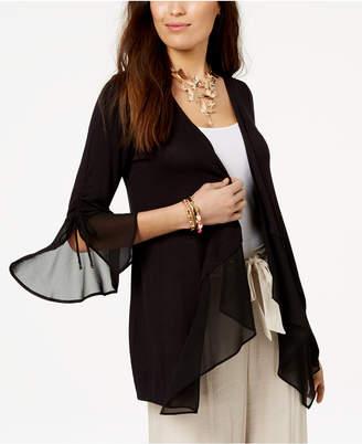 Thalia Sodi Draped Semi-Sheer Cardigan, Created for Macy's