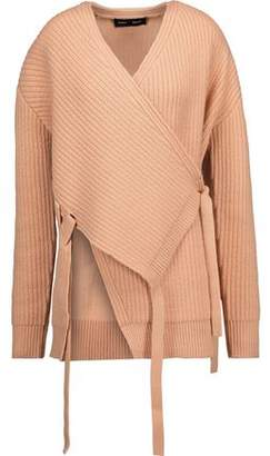 Proenza Schouler Ribbed Wool-Blend Wrap Cardigan