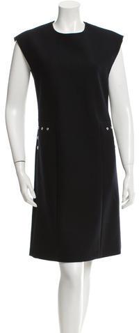 CelineCéline Wool Shift Dress